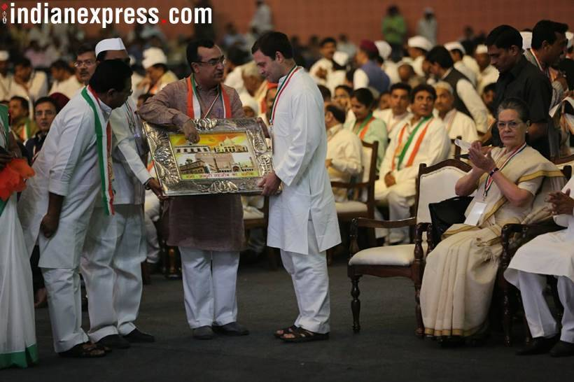 Indian National Congress' 84th plenary session, Congress plenary, Rahul Gandhi, Congress, Congress meeting, Rahul Gandhi speech, Sonia Gandhi, Indian Express