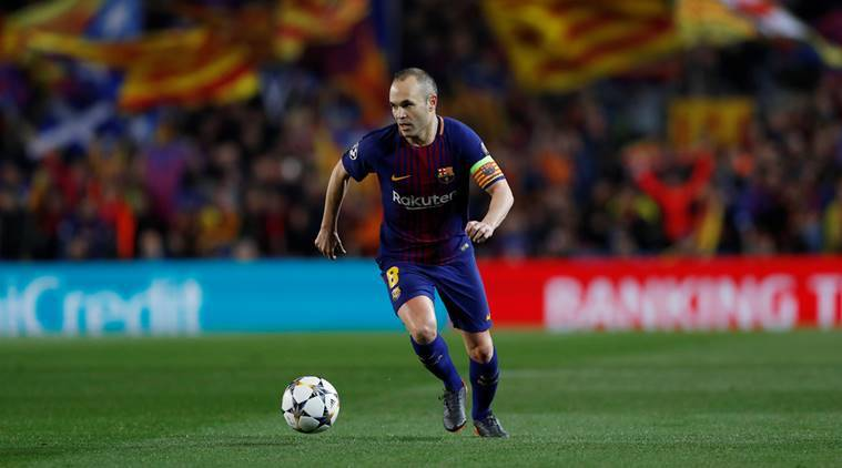 Andres Ineista in action against Chelsea in the Champions League