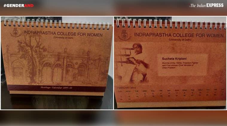 Heritage Calendar 2015-16 honouring alumnus Sucheta Kriplani
