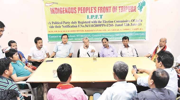 Tripura's ruling tribal ally holds stir for separate state at Jantar Mantar, submits memo to PMO