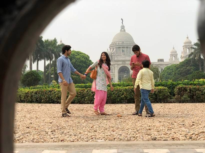 Janhvi Kapoor and Ishaan Khatter captured post movie's wrap