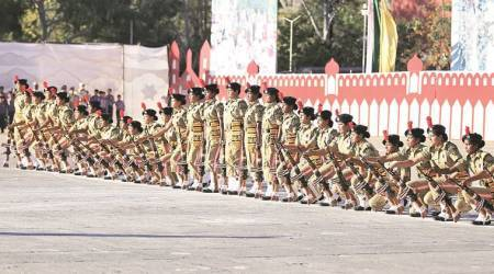 ITBP march first forresidents