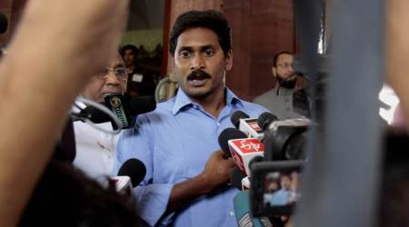 Jagan Mohan Reddy, Jagan Reddy government building demolition, Jagan Mohan Reddy naidu building demolition, chandrababu naidu, chandrababu naidu building demolition, Praja Vedika, Praja Vedika demolition, andhra pradesh news, vijayawada, INDIAN EXPRESS