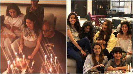 Janhvi Kapoor cuts birthday cake with Sonam, Rhea, Khushi and Anshula