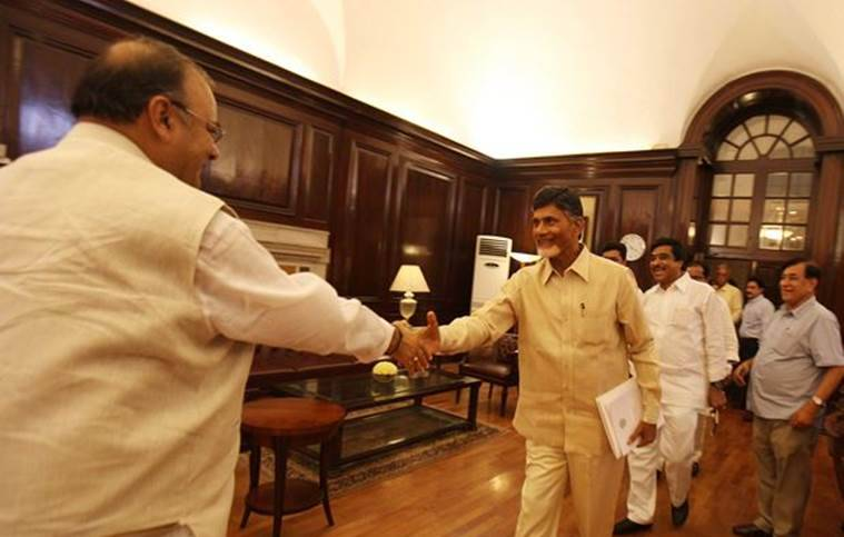 Chandrababu Naidu vs BJP government on Andhra Pradesh special category status
