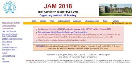 IIT JAM 2018: Result declared at jam.iitb.ac.in, steps to check