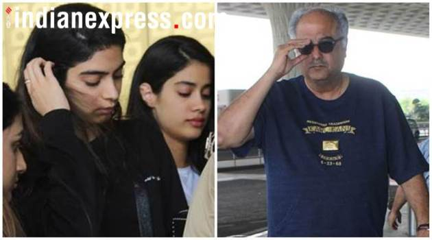 Janhvi, Khushi Kapoor Sridevi prayer meet in Chennai