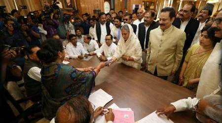 SP candidate Jaya Bachchan files nomination for Rajya Sabha