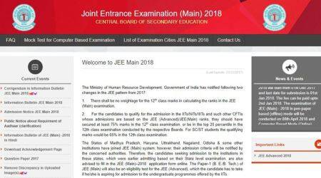 IIT JEE Mains answer keys 2018 of Paper I released, check OMR sheets at jeemain.nic.in