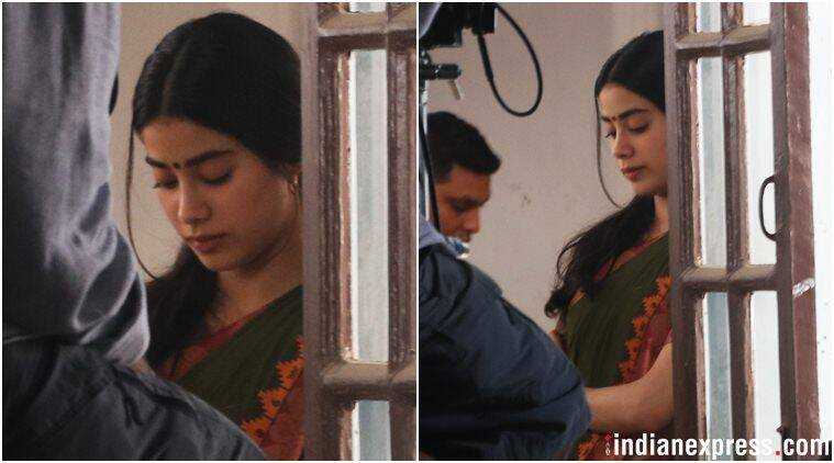 jahnvi kapoor on the sets of dhadak