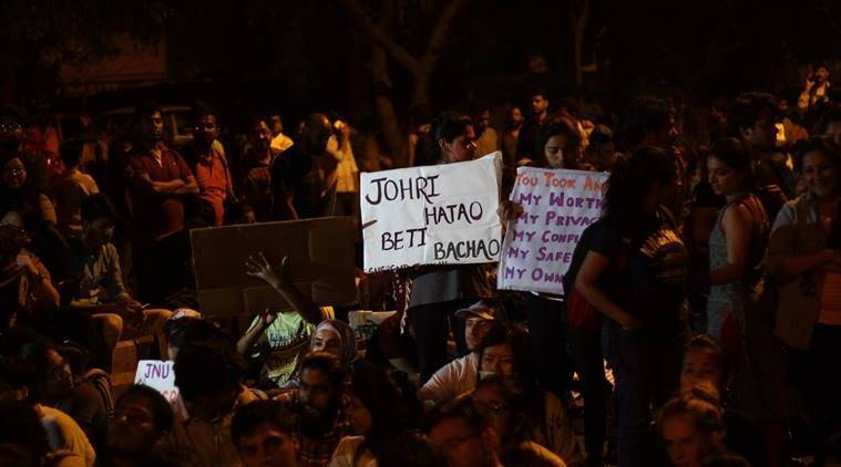 Delhi Police, Delhi Police Tenders Apology, indian express reporter jnu, express reporter files police complaint, express reporter molested, delhi police sho, jnu students lathicharged, jnu delhi police, jnu students protest, india news, indian express news