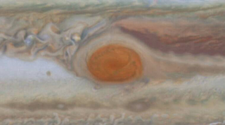 Jupiter Great Red Spot, NASA research, gas giants, Hubble Space Telescope, jet streams, Jupiter's atmosphere, gas clouds, NASA Voyager mission, internal storm winds