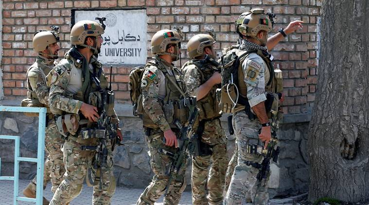 Taliban attack Afghan district compound