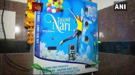 Sanitary napkin vending machine installed at Hyderabad's Kacheguda railway station
