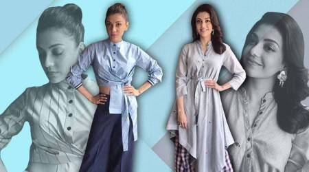 Amp up your street style with Kajal Aggarwal's ultra cool deconstructed shirts