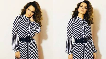 Kangana Ranaut gets sassy​ with this edgy monochrome midi
