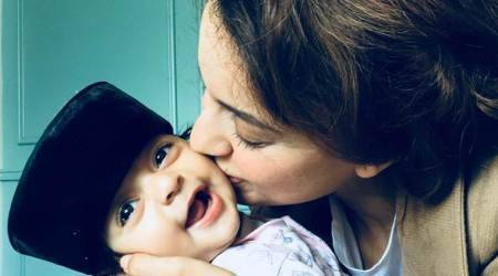 This photo of Kangana Ranaut with nephew Prithvi is melting hearts with its cuteness