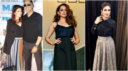 long skirts, how to style long skirts, Kangana Ranaut, Twinkle Khanna, Ileana D'Cruz, Raveena Tandon, Kalki Koechlin, Kangana Ranaut long skirt, Twinkle Khanna long skirt, Ileana D'Cruz long skirt, Raveena Tandon long skirt, Kalki Koechlin long skirt, celeb fashion, bollywood fashion, indian express, indian express news