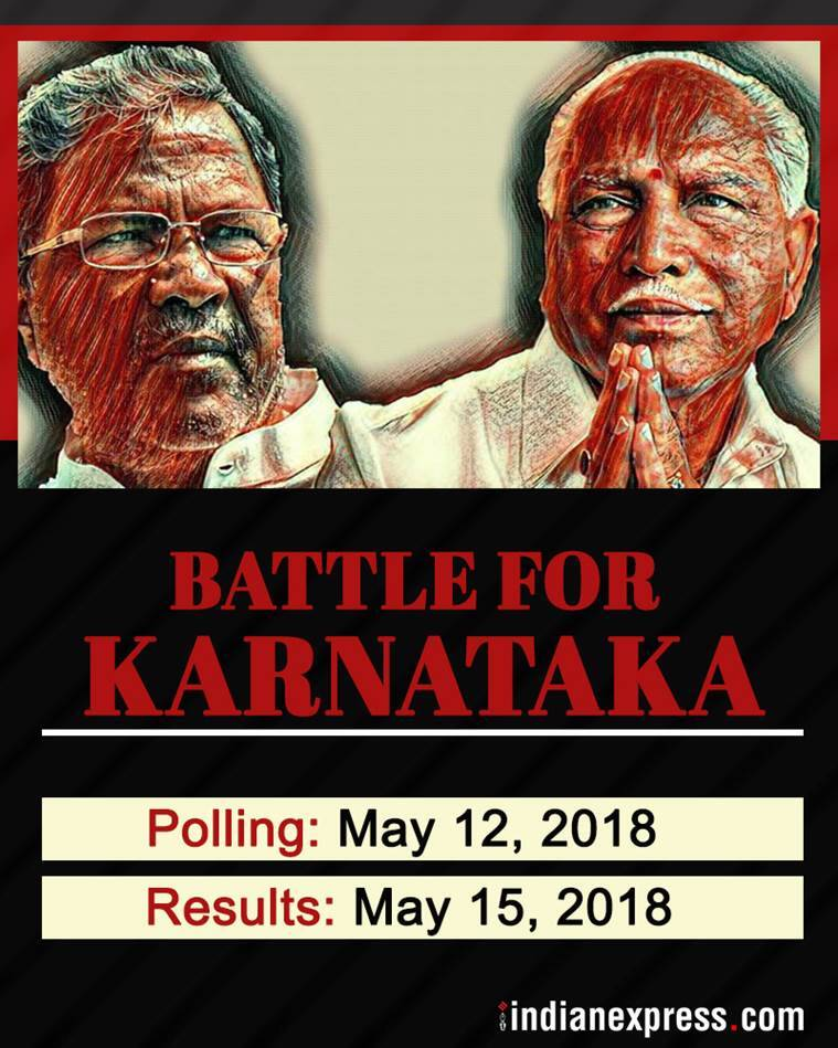 karnataka poll dates, day of counting, day of results