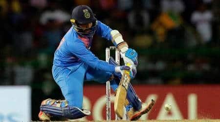 Dinesh Karthik, Dinesh Karthik batting, Dinesh Karthik runs, Dinesh Karthik six, Dinesh Karthik India, Nidahas Trophy 2018, Nidahas Trophy 2018 final, sports news, cricket, Indian Express