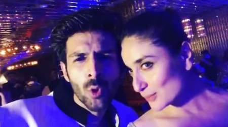 Kartik Aaryan sings Ban Ja Rani for Kareena Kapoor, see video