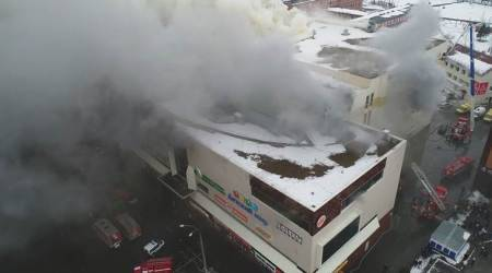 At least 64 dead in Russian shopping mall fire, no alarms reported