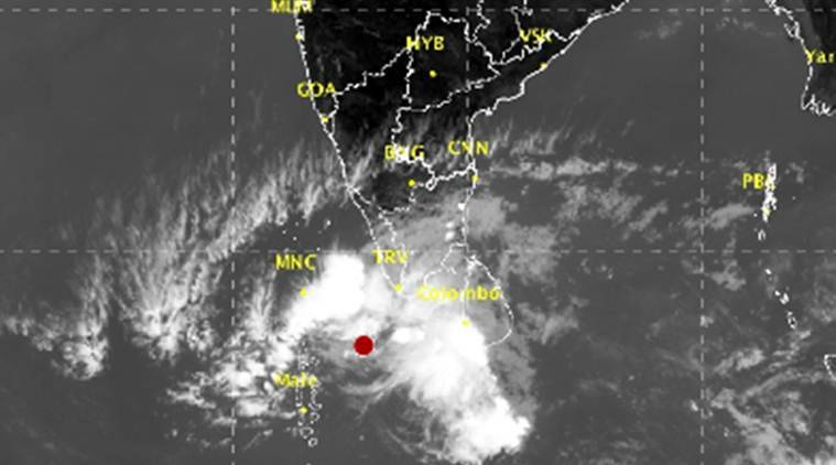Depression over southeast Arabian sea Kerala's southern coast warned of heavy rains