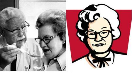 Not just McDonald's, KFC also swapped its logo with Colonel's wife Claudia Sanders