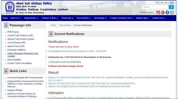 railway recruitment,konkanrailway.com, indian railway recruitment, konkan railway recruitment