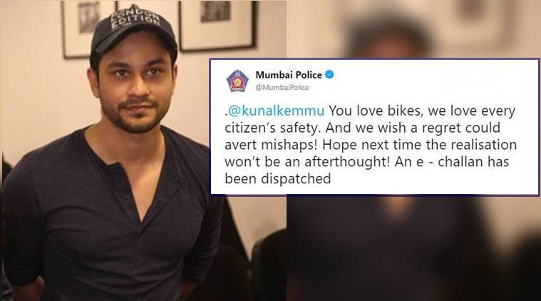 Kunal Kemmu apologises for riding a bike without the helmet