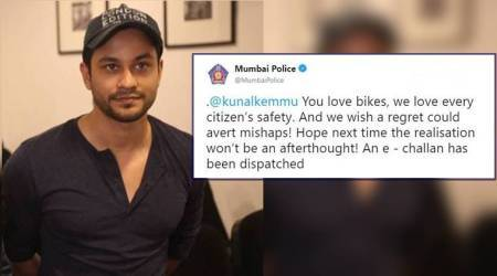 After Varun Dhawan, Kunal Kemmu gets e-challan from Mumbai Police for not wearing a helmet