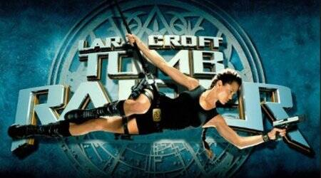 The 3 ingredients of 2001's Tomb Raider: Sad script, decent action, and a hard-at-work AngelinaJolie