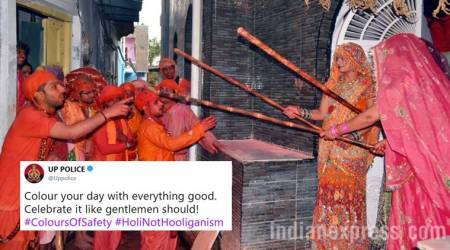 Happy Holi 2018: UP Police's stand against hooliganism with this Lathmar Holi reference is on point