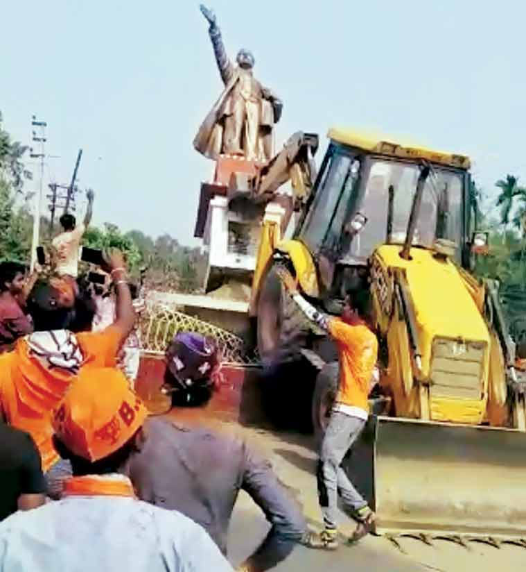 Lenin statue razed in Tripura, leads to violence between BJP and CPM