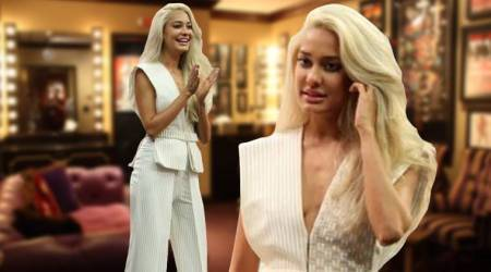 Lisa Haydon shows you how to give a sultry twist to the regular pantsuit