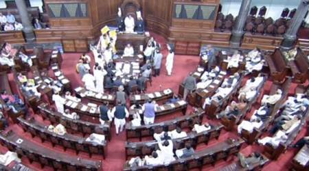Lok Sabha, Lok Sabha passes bills, Opposition protests, Parliament, india news, indian express news