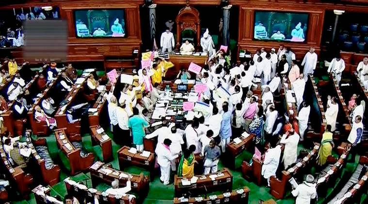 Protests continue in parliament: Lok Sabha passes two Bills without debate