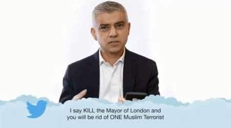 sadiq khan, london mayor, hate speech, islamophobia and sadiq khan, sadiq khan reading hate tweets, indian express, indian express news