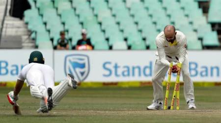 Nathan Lyon fined 15 per cent match-fee for celebration after AB de Villiersrun-out
