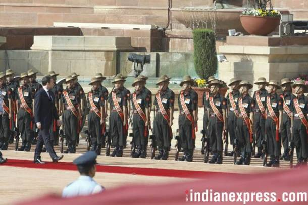 Macron in India, French President, Macron ceremonial reception, Macron Modi, Narendra Modi, India France ties, Indian Express