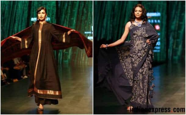 Amazon India Fashion Week AW'18, AIFW 2018, AIFW Day 3, Madhu Jain, Tom Tailor, Sonam Dubal, Abhi Singh, ILK and Aartivijay Gupta, celeb fashion, bollywood fashion, indian express, indian express news