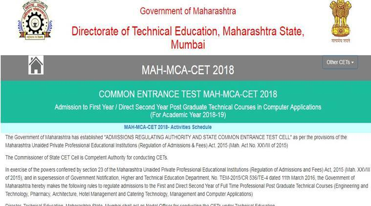 Results for MAH MCA CET 2018 exams to release tomorrow