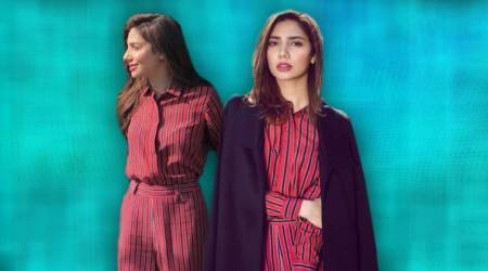 Mahira Khan gives us reason to invest in a striped pantsuit this summer