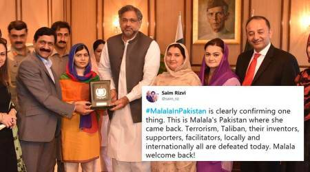 Malala Yousafzai, Malala Yousafzai pakistan, malala in pakistan, malala home coming, malala taliban attack, pakistan news, viral news, trending news, indian express