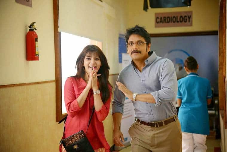 Samantha Akkineni with Nagarjuna in Manam