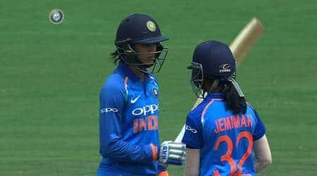 Smriti Mandhana, Smriti Mandhana fifty, Smriti Mandhana india women, indian national cricket team, cricket, indian express news
