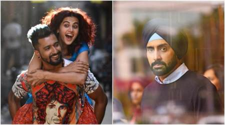 Manmarziyaan first look: Abhishek Bachchan, Vicky Kaushal and Taapsee Pannu in never-seen-before avatars