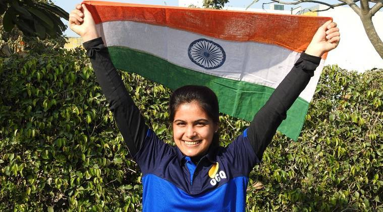 manu bhaker wins gold