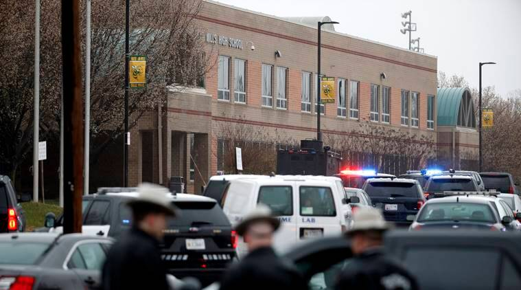 The shooting took place at Great Mills High School in St. Mary's County, about 70 miles (110 km) south of Washington.