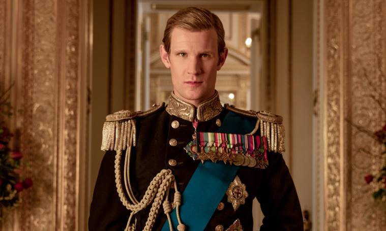 matt smith playing prince philip in the crown by netflix